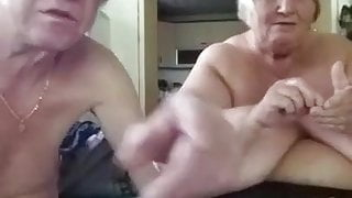 BBW granny and hubby on cam