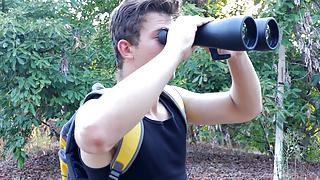 Hiker voyeuring on a gay man - Bareback Anal
