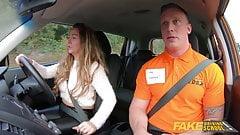 Fake Driving School Rookie instructor fucks Classy MILF