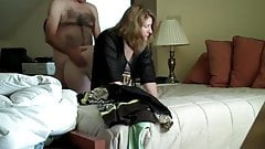 Amateur couple fucks in in-laws bed while housesitting
