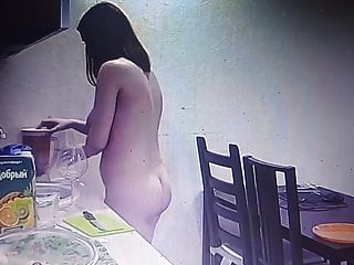 Naked young girls-18 - Young couple cooking naked
