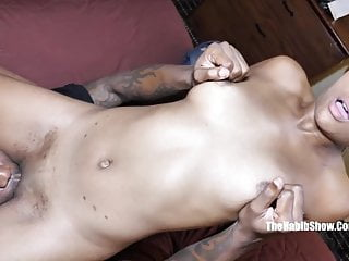 I love to swallow mans cock - I love the way she swallows king kreme bbc