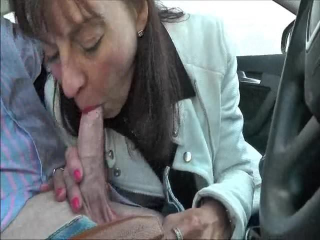 Mature Blonde Car Blowjob