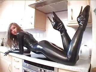 Latex modeling clay that dries like plastic Latex model in kitchen