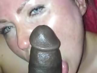 Spit face cum Miss.piggy love black dick spitting on her face