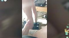 Girl sucking cock and flashing perfect asshole periscope