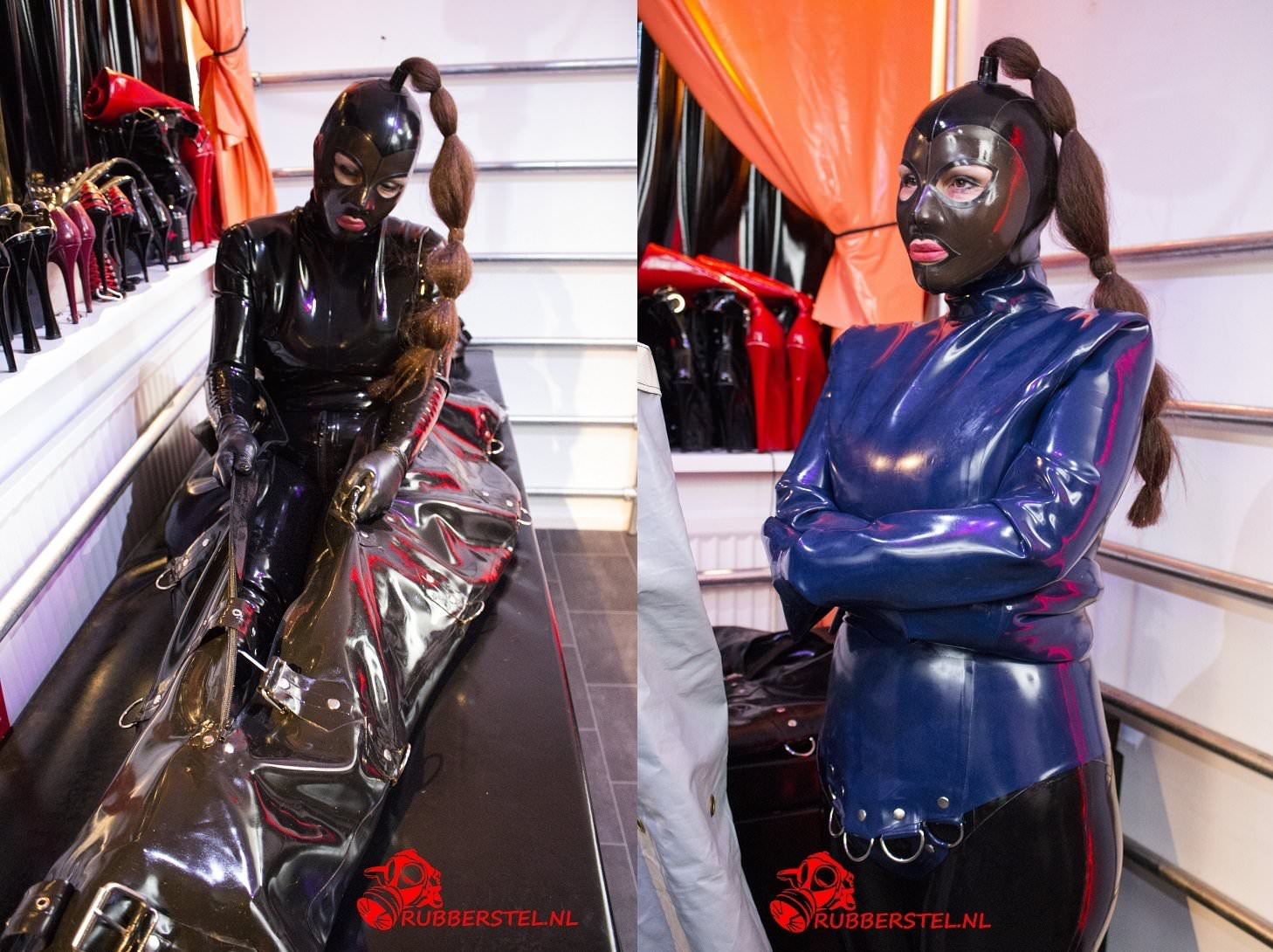 Latex Mistress Bondage Slave