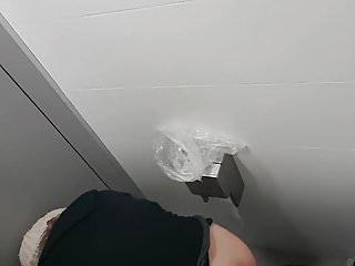 Ass public voyeur Granny ass public wc spy