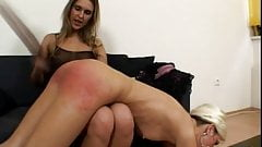 Lesbian exposing punishment session