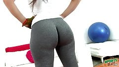 Huge Round Heavy Ass Tiny Waist Latina Working Out In Tight