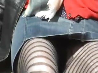 Lisa raye lingerie line - Frontal upskirt lined stockings milf in the park