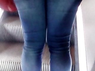Femme sexy noire Jeans moulant de femme noire