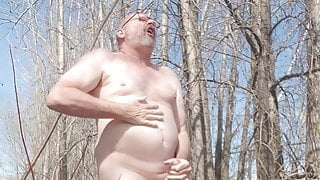 Step Dad's naked outdoor wank