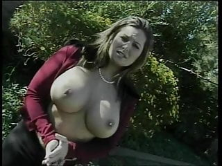 Face fuck bitch - Busty bitch gets fucked and her face creamed after sucking dick on the grass