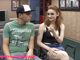 En david hu erotica Pail white skin red haed teen sluw wife gets banged while hu