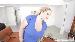 Huge Tit Blonde BBW Sashaa Juggs W DILF Tony D