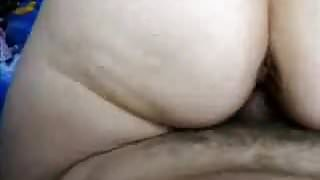 MILF with big bubble butt reverse cow girl till creampie