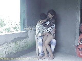 Desi Sneha Raj Kissing N Sucking Outdoor