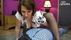 Miss Adrastea is riding your face while you're in chastity