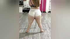 White bbw big ass dancing