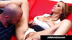 Big Titty Instructor Julia Ann Dicked By Her Horny Student!