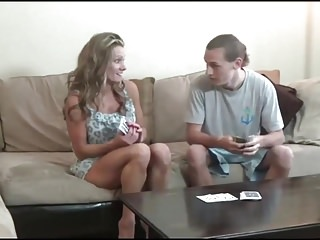Alley baggett poker strip - Mom and son play strip poker