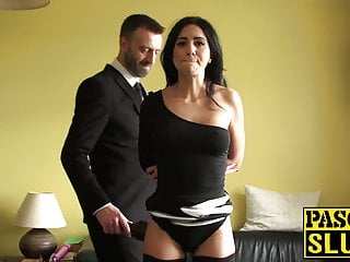 Sex change operation from male to female Sub cutie gets rough sex from a dominant male in a tux