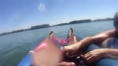 Inner Tube Blowjob On The Lake
