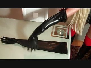 Latex food gloves - Gloved mistress