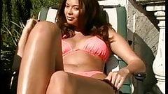 Tera Patrick works her pussy hard on film set