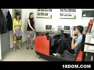 Teen male nudew - Two bossy instructors humiliate their male student