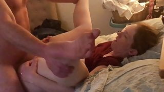 Actual real affair with my boss' wife bound in their bed! Hot!!!