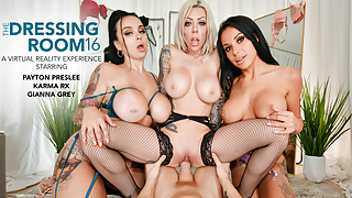 Naughty America - 3 MILFS ride a stud's big cock in VR!