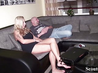 Milf caught boy - German husband caught wife with young boy and join in 3some