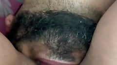 Desi wife hairy pussy getting tasted