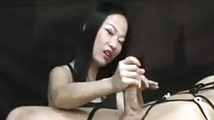 Asian bdsm on white