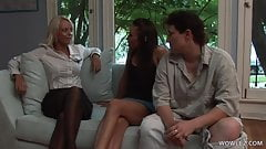 Fingering and licking action with Celeste Star & Jana Cova