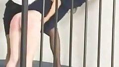 Jail spanking
