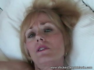 Sexy girl plays with huge cock Amateur granny plays with huge cock from horny step son
