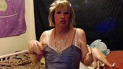 short blond hair sissy gurl smoking in hot makeup