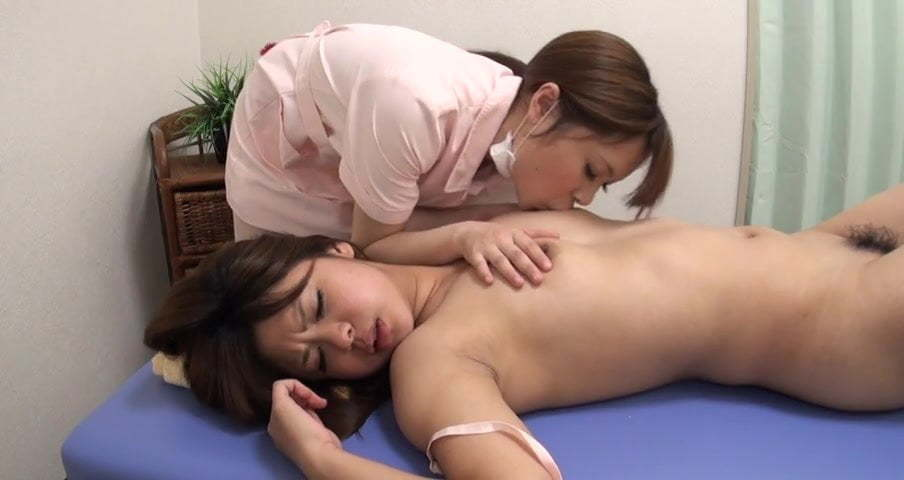 Blonde Asian Lesbian Massage