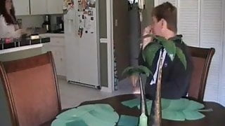 Step mom teases her boy