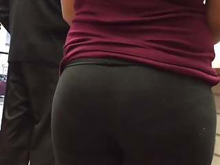 Lil latina ass Hot lil latina ass in black spandex