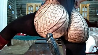 PAWG creamy pussy squirting on dildo