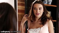 Lana Rhoades Tricks StepSister into Fucking her Girlfriend