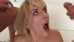 Classy German lady parks two dicks in her cock-garage