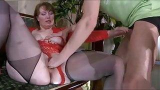 Fool-guy & sweet beautiful stepmom with saggy tits