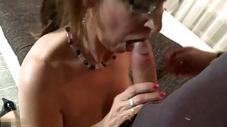 Dutch mature lady has a young dick in her mouth -  beautiful
