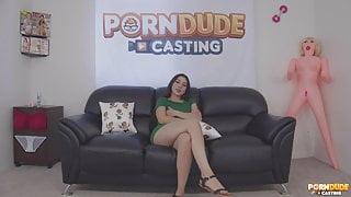 Superb casting Latina model Camila Cano rides dick nicely be