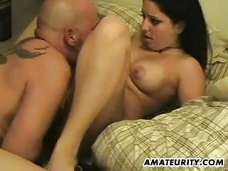 Chubby amateur breast Chubby amateur girlfriend sucks and fucks with facial